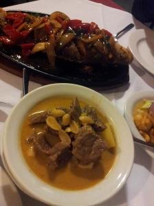 Beef Massaman, Special Garden Fish