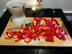 St Louis strawberry fondue